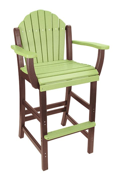 Outdoor Adirondack Bar Stools by Outer Banks Counter Height Adirondack Fanback Poly Lumber