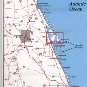 map of cape canaveral florida top spot fishing map n218 cape canaveral area
