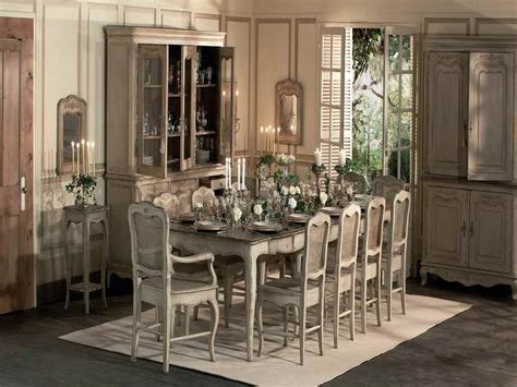 french country dining room tables with rustic design