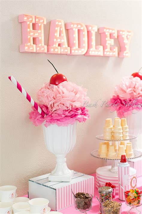 ice cream birthday party ideas ice cream party hadley is 1 chickabug