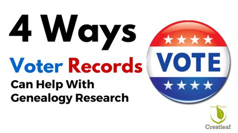 Voter Records Genealogy