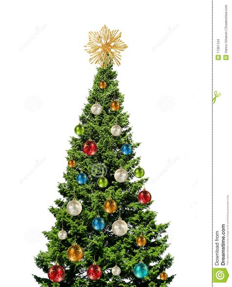 bunter weihnachtsbaum colorful tree on white stock images image