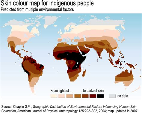 skin color map the bottlenecked global skin color