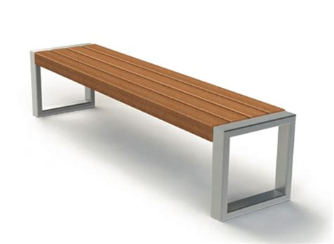 street furniture bench bench pluris 02 405 steel without backrest zano