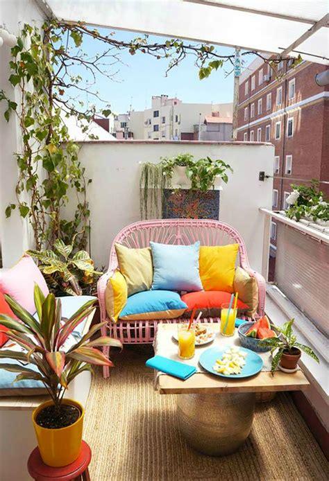 idee  arredare  piccolo terrazzo  maniera