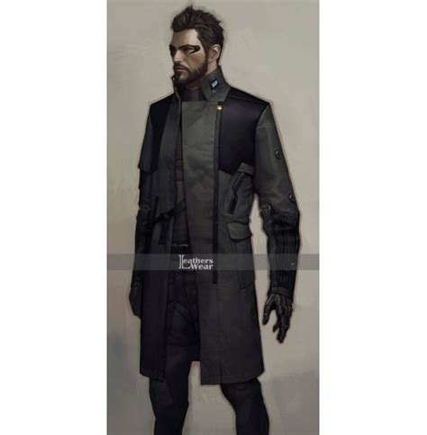 Vest Hoodie Deus Ex Mankind Divided high class designer leather jackets