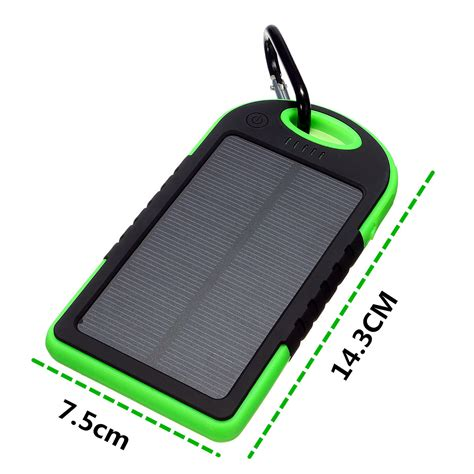 Charger Bolt 2 1 Ere 2 Output portable solar panel dual usb external mobile battery