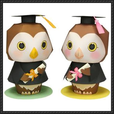 Paper Crafts Canon - canon papercraft graduation message doll free template