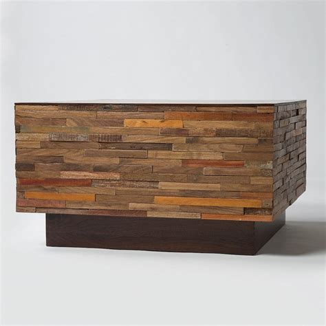 houzz square coffee table landon mixed wood square coffee table eclectic coffee