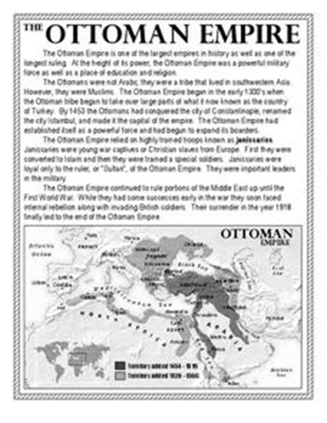 Ottoman Empire Lesson Plans The Ottoman Empire Worksheet For 7th 10th Grade Lesson Planet