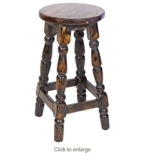 Mexican Painted Bar Stools by Black Painted Wood Mexican Turned Leg Bar Stool