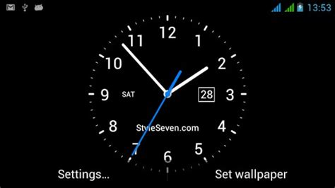 live clock themes software analog clock live wallpaper 7 app for android