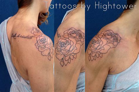 rose outline tattoo on shoulder 65 trendy roses shoulder tattoos