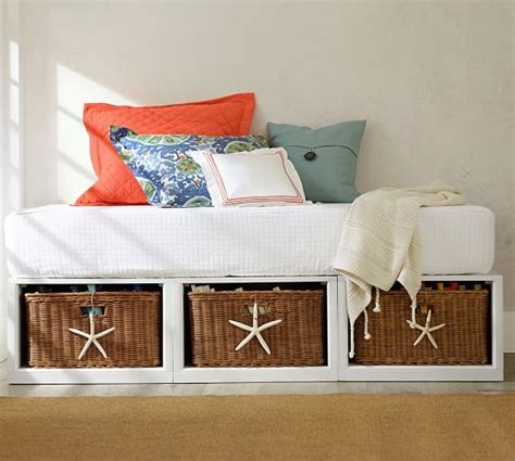 daybed with baskets stratton storage platform daybed with baskets pottery