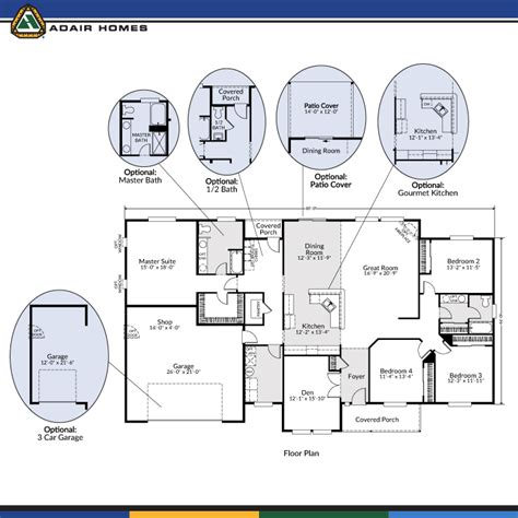 adair floor plans adair homes the aspen 2686 home plan