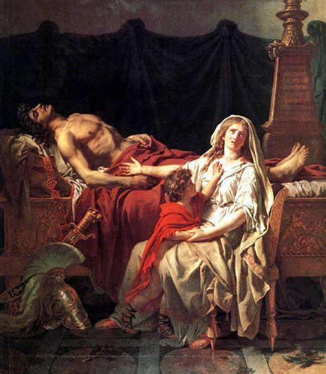 a portrait of the artist as a books andromache mourning hector jacques louis david