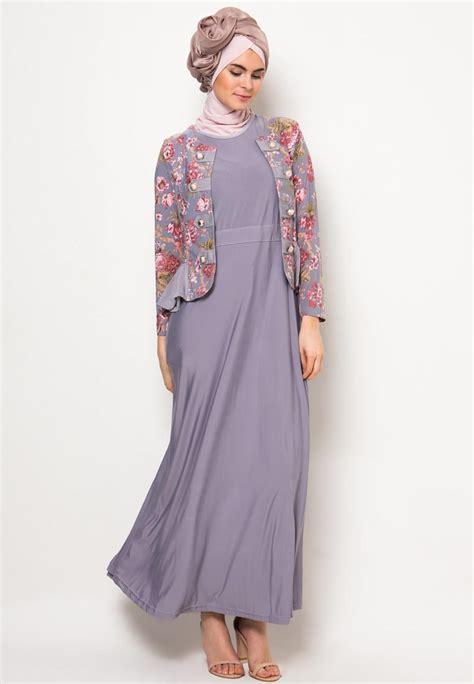 Baju Batik Sifon model baju gamis batik kombinasi sifon gambar busana muslim 2018