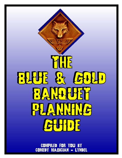 Cub Scout Blue And Gold Program Template by Blue And Gold Banquet Clipart Clipground