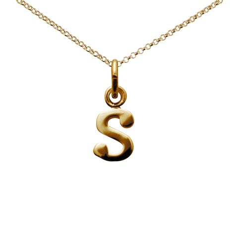 gold letter s necklace from charmed