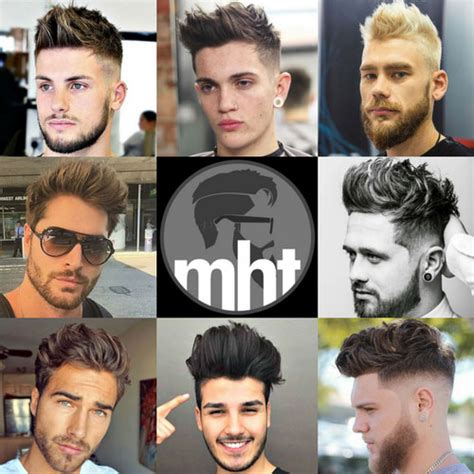 Light Skin Teen Boys Brushed Up Hairstyle Men S Hairstyles Haircuts 2018