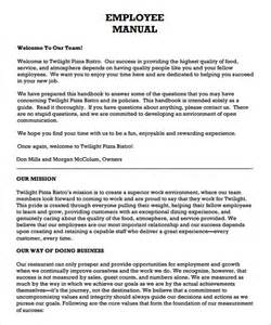 Template For Handbook by Employee Handbook Template Free Template Design