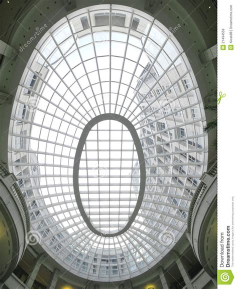 real world exles of applications of the conic sections ellipse transparent ceiling royalty free stock images