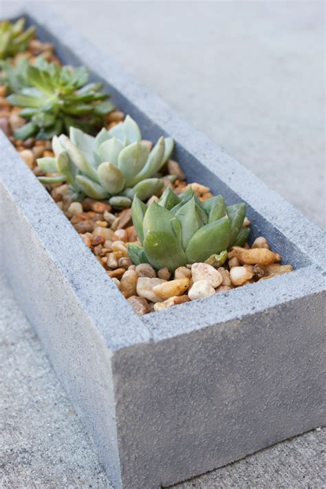 Diy Faux Concrete Planter Tutorial Erin Spain Faux Concrete Planters
