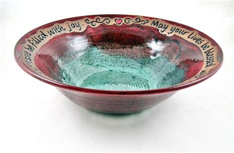 Wedding Blessing Bowl by Personalized Wedding Blessing Bowl In And Teal Green