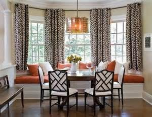 Kitchen Nook Curtains by Breakfast Nook Bay Window Treatments Without Cornice Or