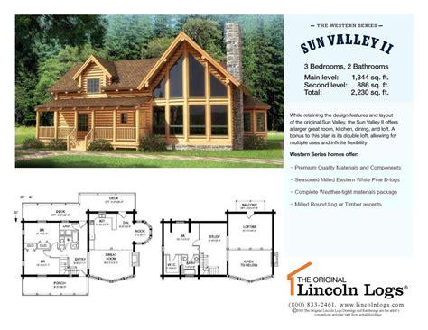 lincoln log homes floor plans log home floorplan sun valley ii the original lincoln logs