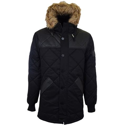 Voi Quilted Jacket Mens by Voi Detroit Hooded Quilted Parka Jacket