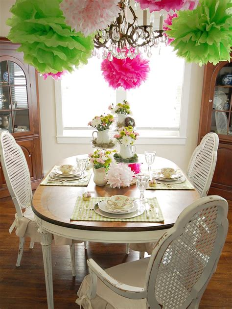 In Table Decorations by Colorful Table Setting Hgtv