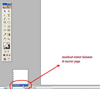 Mouse Otomatis halaman otomatis di adobe indesign mickie juniors 2