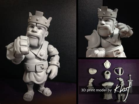 free jointed doll 3d model barbarian king ver jointed doll 3d model 3d printable