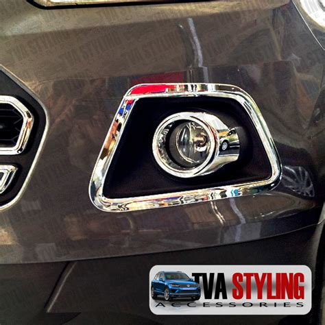 Cover Bumper Belakang Ford Eco Sport Chrome ford ecosport 2014 on chrome front fog light surrounds covers trims