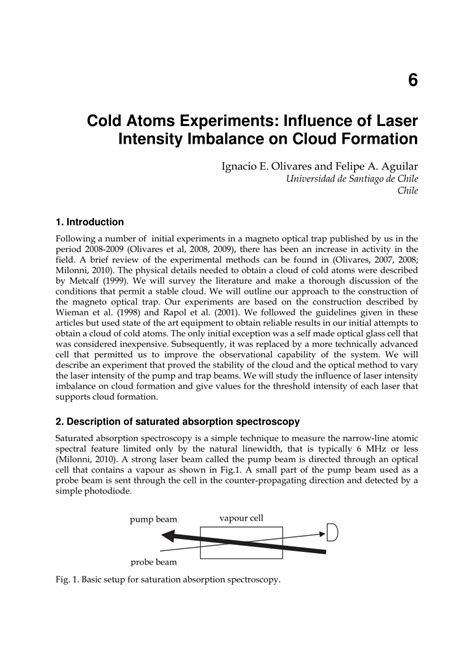 pattern formation in cold atoms cold atoms experiments influence of laser intensity