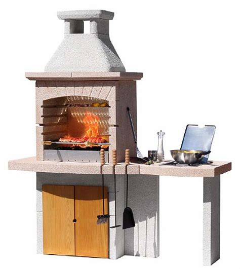 Topiary Tupai 1 formentera bbq grill with side table cupboard and