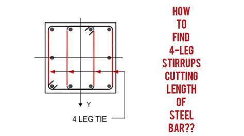 8 legged stirrups in beam how to find cutting length of 4 legged stirrups