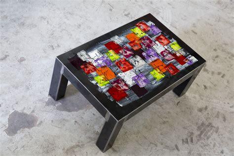 Table Basse Vintage 741 by Table Basse Par Terre Et M 233 Tal Artisan Fabricant Fran 231 Ais