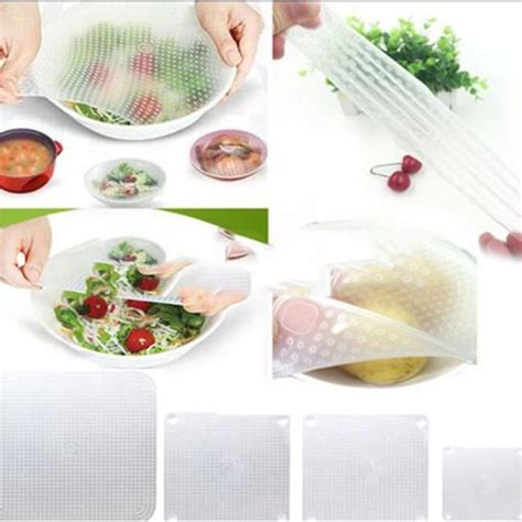 Silicone Stretch Fresh Food Cling Protection Silikon Peli Xwf3 4pcs silicone wraps seal cover stretch cling food fresh keep kitchen tools zh450 in saran
