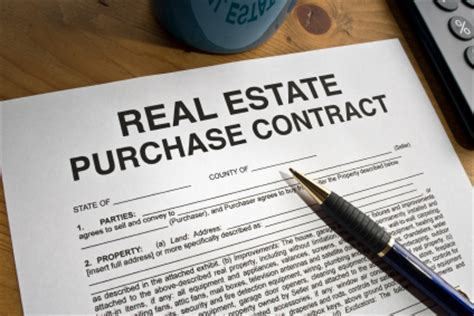 buy a house on contract the real estate sales contract