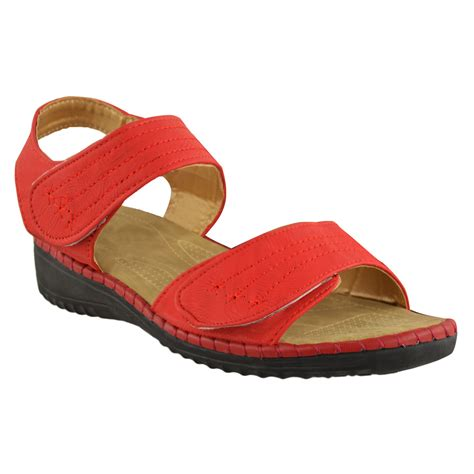 women s comfort sandals walking ladies womens comfort wide casual walking flat summer