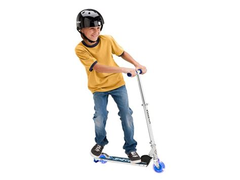 razor scooter light up wheels blue razor spark dlx scooter blue