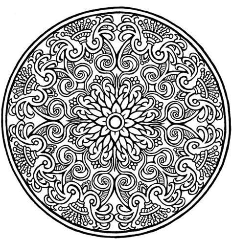 round mandala coloring pages mandalas para colorear dificiles