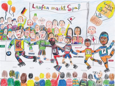 themes for drawing and painting competition bmw berlin marathon 10th drawing competition 2015 kids