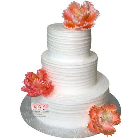 hochzeitstorte lachsfarben 1654 3 tier white wedding cake with colored