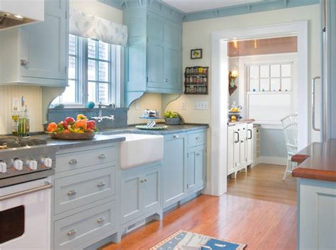 20 ideas for kitchen decorating with light blue color homesplanning