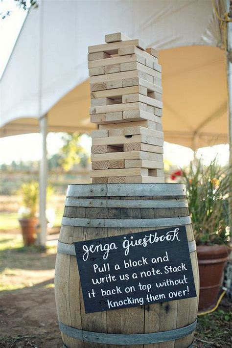 puzzles  jenga wedding guestbook ideas roses