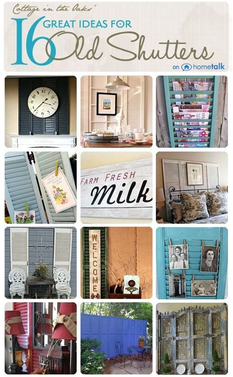 repurposed home decorating ideas 58 best diy repurposed shutters images on shutter blinds ideas and window