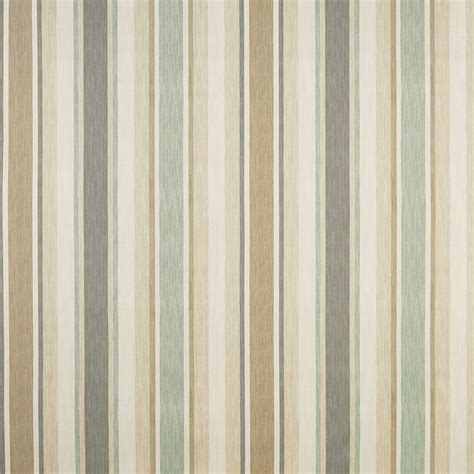 awning stripe fabric awning stripe biscuit eau de nil cotton linen fabric at